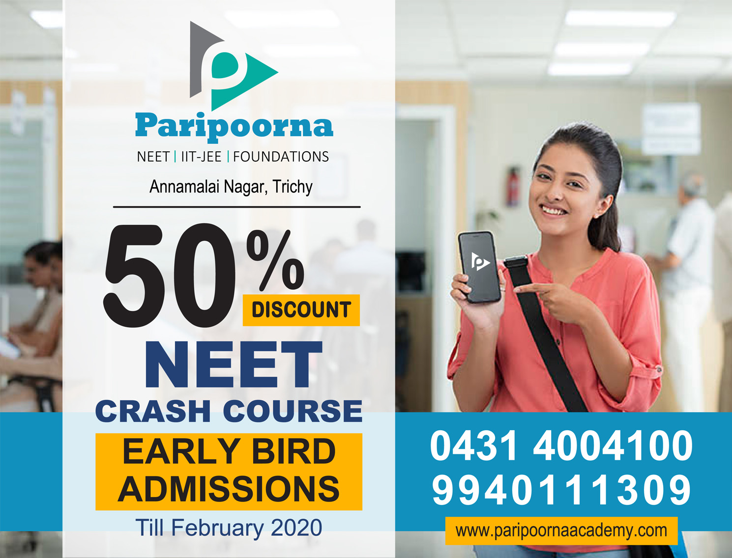 Early Bird Admissions Offer